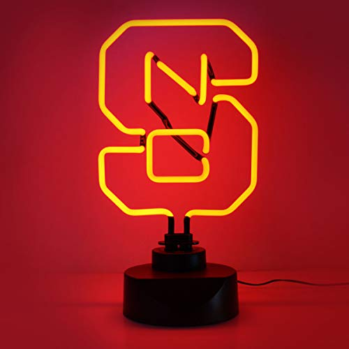 NCAA North Carolina State Wolfpack Neon Sign, Medium, Red (North Carolina State Wolfpack Light)