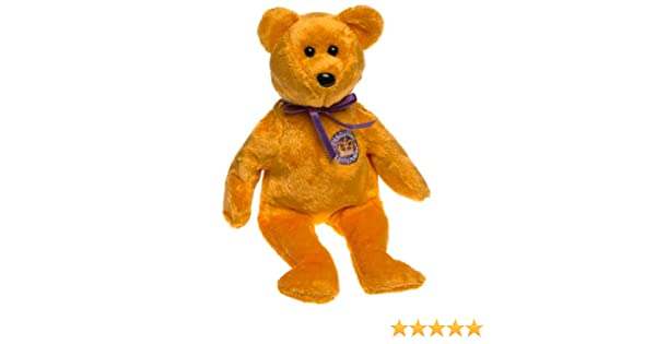 2276ecec869 Amazon.com  TY Beanie Baby - CELEBRATIONS the Golden Jubilee Bear (Country  Exclusive)  Toys   Games