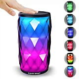 Wireless Bluetooth Speakers HD Sound Touch LED Light 6 Modes Built-in Mic Hands