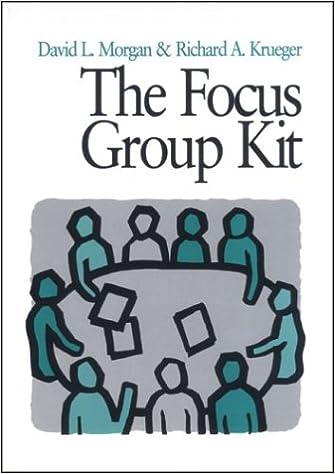 The Focus Group Kit Volumes 1 6 David Morgan Richard A Krueger