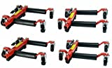 (4) Dragway Tools 12'' Hydraulic Wheel Dolly Vehicle Positioning Jack Lift Hoist with 1500 lb Capacity