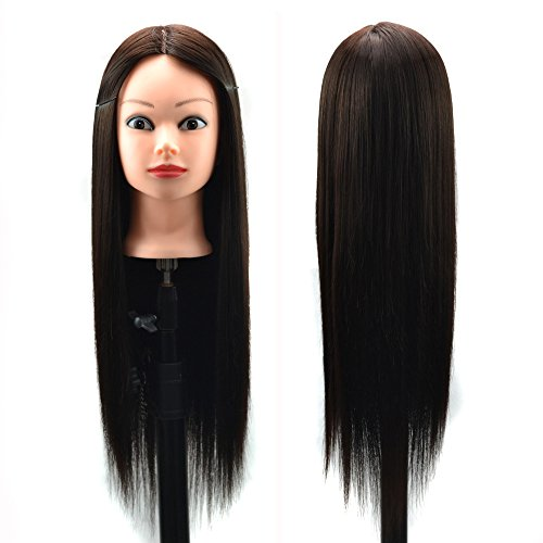 FeiFei66 Hair Styling Wig Practice Training Mannequin Hairdressing Approx. 60cm (D) -