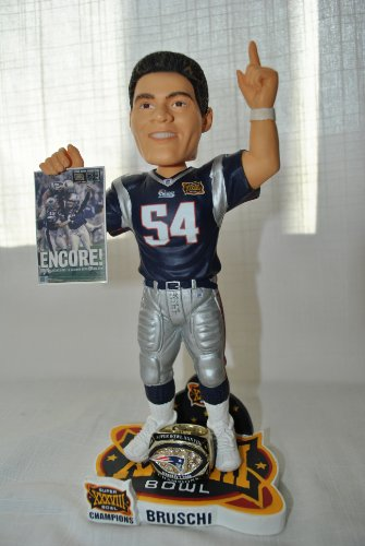New England patriots 10 inch NFL Super Bowl TEDI BRUSCH #54 Championship bobblehead by FOREVER