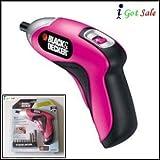Black & Decker Power Rechargeable Screwdriver - Pink