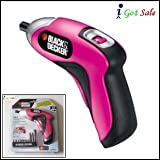 Black & Decker Power Rechargeable Screwdriver - Pink