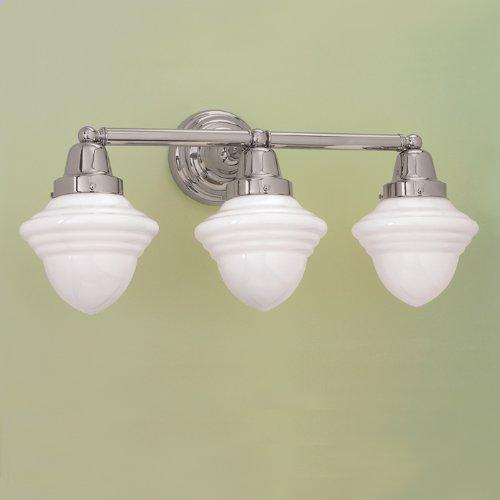 Norwell Lighting 8203-BN-AC - Bradford 3 Light Sconce - Brushed Nickel Finish/Acorn Glass