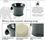 GBS Men's Black Ceramic Shaving Soap Bowl/Mug - Knob Handle- 3 Oz All Natural Soap Compliments Any Razor For The Ultimate Wet Shave Best Use With GBS Shaving Brush