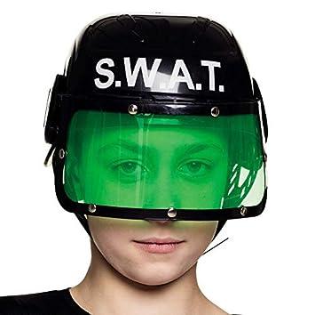 NET TOYS Casco de policía S.W.A.T con Visera para niños ...