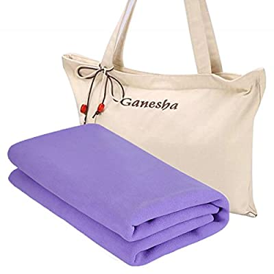 Ganesha Travel Yoga Mat Ecofriendly Rubber Mat Foldable and Machine Washable Non Slip Perfect for Bikram Hot Yoga 1mm Super Thin with Free Durable Carrying Bag