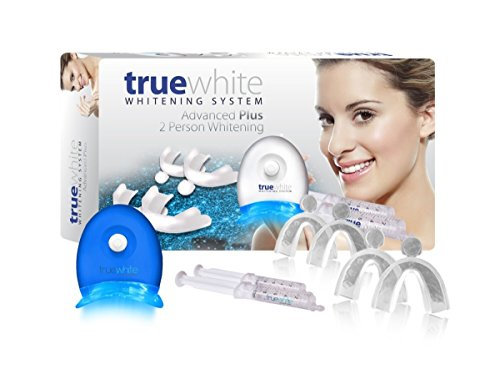 (truewhite Advanced Plus Teeth Whitening System For 2 Person- Made in USA - No Sensitivity - Easy to Use Perfect Professional Teeth Whitening Kit- FDA Registered)