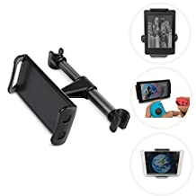 Lekufee Universal Car Headrest Mount Holder,fit for iPad Pro10.5inch /ipad mini,Samsung Galaxy Tabs &note, Nintendo Switch,Amazon Kindle E-readers/Amazon Fire HD Tablet&Other Devices(Black)