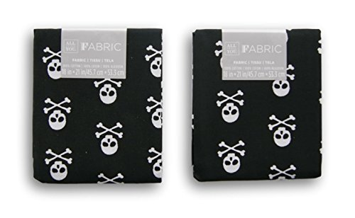 All Things You Fabric Fat Quarters Bundle - Skull and Crossbones