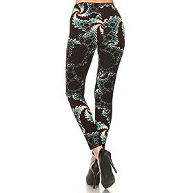 - 417ScQuvxiL - Leggings Depot Women's Ultra Soft Printed Fashion Leggings BAT8