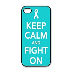 meilinF000Keep Calm and Fight on Breast Cancer Support Blue Design Case For iphone 5cmeilinF000