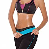 CFR Women's Slimming Thermo Body Shaper Sauna Suit Hot Fever Waist Trainning Weight Control Pants Blue,L by USPS