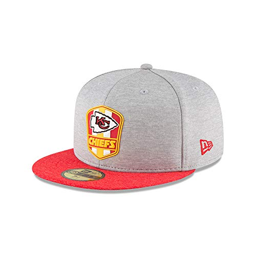 New Era Kansas City Chiefs NFL Sideline 18 Road On Field Cap 59fifty Fitted OTC
