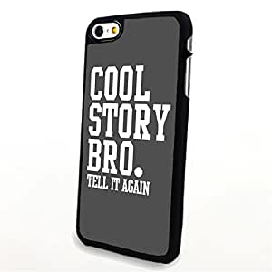 apply Phone Accessories Matte Hard Plastic Phone Cases Quote Cool Story Bro Tell It Again fit For Samsung Galaxy S6 Case Cover