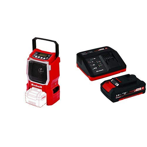 Einhell Expert TE-CR 18 Li - Radio (sin cargador o batería) + 4512040 Kit con Cargador batería de Repuesto, tiempo de carga: 30 Minutos