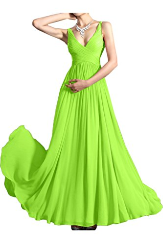 Missdressy - Vestido - plisado - para mujer Verde