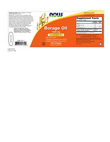 NOW Borage Oil 1000 mg,120 Softgels