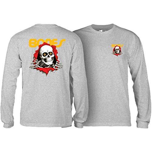 Powell-Peralta Skateboard Long Sleeve Shirt Ripper Grey Size L -  CTLPPRIPU