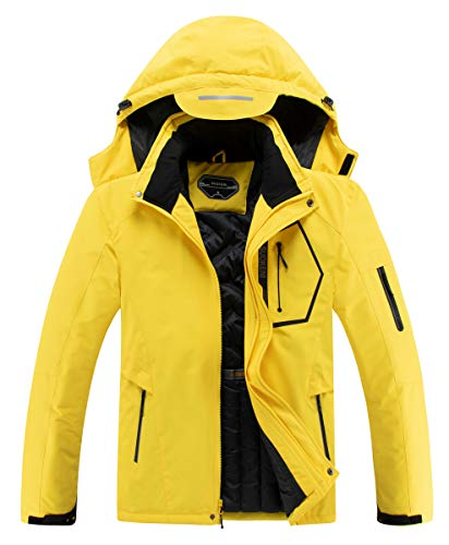 Men's Waterproof Ski Jacket Warm Winter Snow Coat Hooded Raincoat