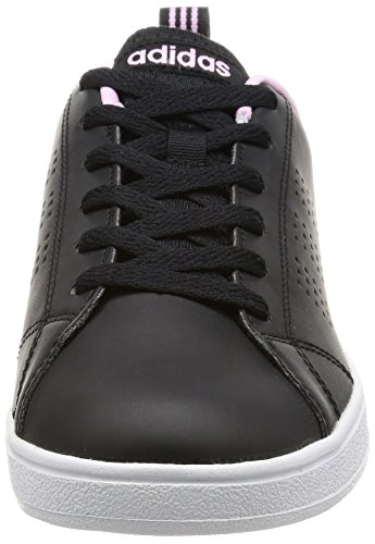 adidas Vs Advantage Clean, Zapatillas para Mujer, Core Black/Core Black/Light Orchid CBLACK/CBLACK/LGTORC