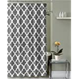 """Geometric Patterned Shower Curtain 72"""" x 72""""-Grey"""