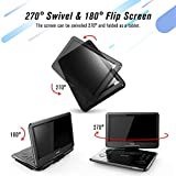 """TENKER 14.4 """" Portable DVD Player with"""