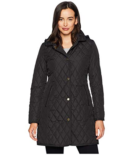 Lauren Ralph Lauren Women's Faux Leather 3/4 Quilt Black ()