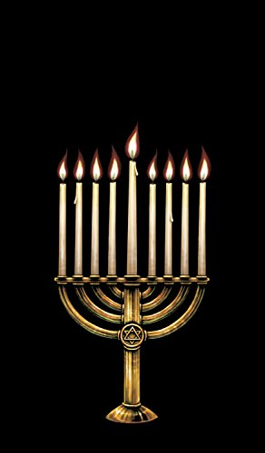 WOWindow Posters Hannukah Menorah Poster Window Decoration Includes One 34.5