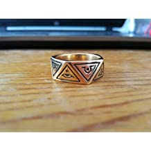 All Seeing Eye ring - Triangle ring - Zodiac ring | Eye of God | Illuminati ring | Ancient Pagan symbols | Pyramid Ring | Sterling Silver 925, Yellow, White, Rose Gold | Handmade | All Sizes
