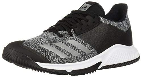 adidas Women's Crazyflight Team Volleyball Shoe, Black/Silver Metallic/White, 8.5 M US