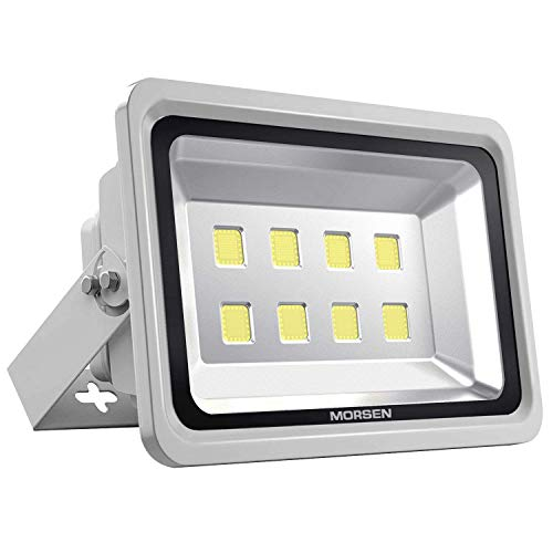 Light Wall Landscape Incandescent - Morsen LED Flood Light 400W, IP65 Waterproof Indoor Outdoor Security Light 40000 LM 6000K Daylight Wall Light Spotlight for Parking Lot Basketball Football Court Warehouse Commercial Lighting