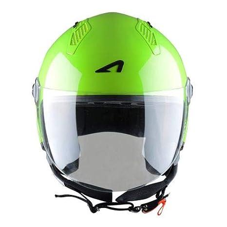 Coque en polycarbonate Casque moto et scooter compact MINIJET monocolor Casque jet urbain Black Gloss Casque jet Astone Helmets