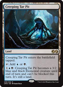 Magic: The Gathering - Creeping Tar Pit - Foil - Ultimate Masters - Rare