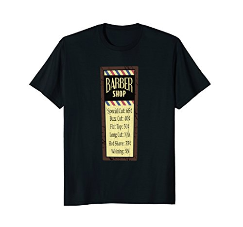 Barbershop Vintage Price Sign Haircut Salon T (Sign Womens Cut T-shirt)