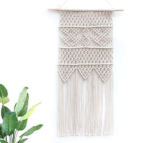 - BlueMake Bohemian Macrame Woven Wall Hanging Modern Art Background Decoration Apartment Bedroom Home Living Room Gallery Baby Nursery(17.6