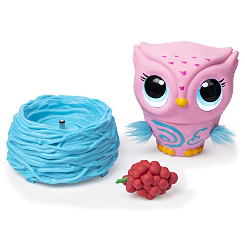 417SgmNJGzL - Owleez, Flying Baby Owl Interactive Toy with Lights & Sounds (Pink), for Kids Aged 6 & Up