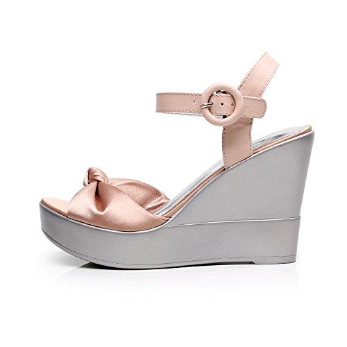 e22968869aa879 DUNION Women s AWE Zip Closure Crisscross Straps Platform Wedge Sandal  Wedding Party Dress Shoe