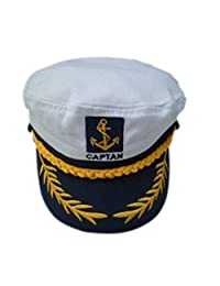 Adult Yacht Boat Ship Captain Costume Navy Marine Admiral Hat Cap Visor