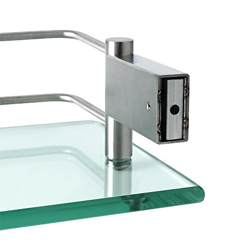 Alise GC1000 SUS 304 Stainless Steel Bathroom Glass Shelf Wall Mount,Brushed Finish by Alise (Image #5)