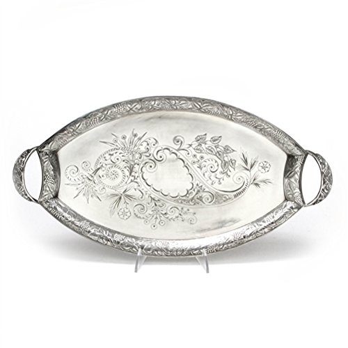 Serving Tray, Oval by Pairpoint, Silverplate, Grapes