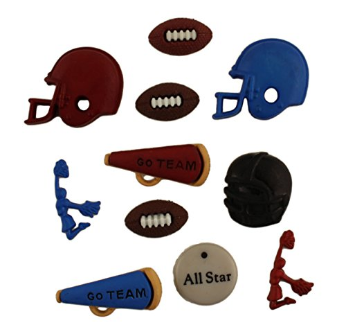 Buttons Galore Craft & Sewing Buttons - Football - 3 Packs (30 Buttons)]()