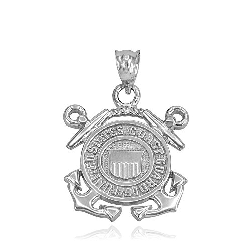 (US Coast Guard Charm Pendant in 925 Sterling Silver)