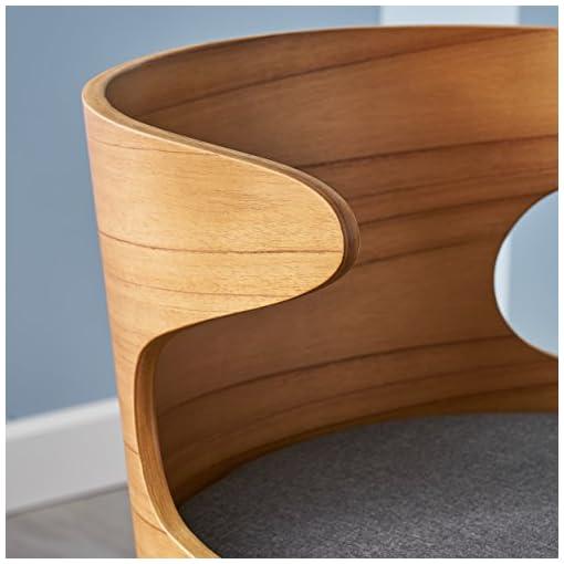 Kitchen GDFStudio 304582 Truda Mid Century Modern Fabric Barstools   Set of 2, Charcoal/Natural modern barstools
