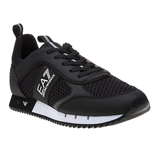 Emporio Armani EA7 Black Sneaker Trainer UK 10