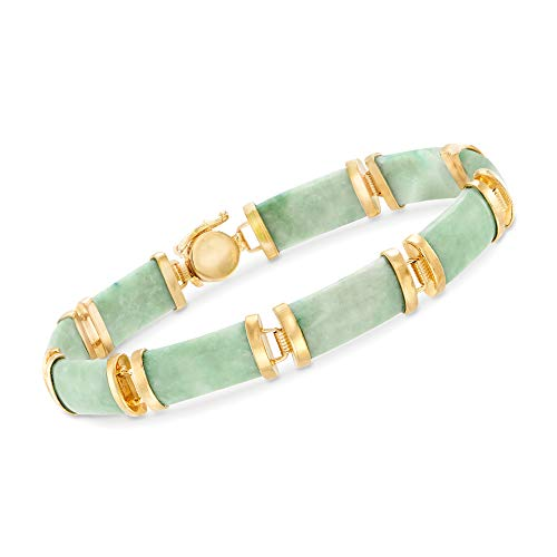 Ross Simons Green Jade Bracelet Sterling product image