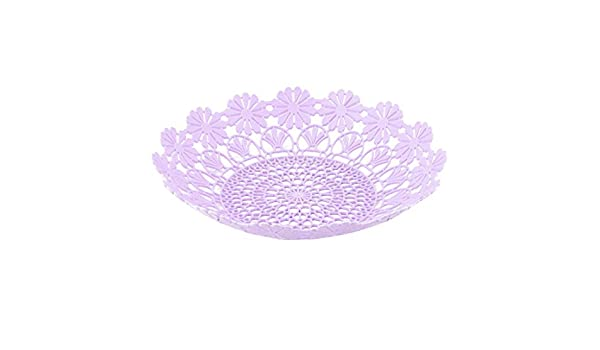 Amazon.com | DealMux Plastic Home Kitchen oco Out Flor Borda Design Fruto Vegetable Basket Placa Bandeja roxo Luz: Fruit Plates