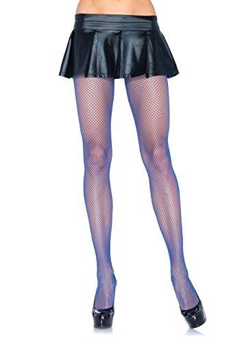 Panties Leg Spandex Avenue (Leg Avenue Women's Spandex Fishnet Pantyhose, Royal Blue, One Size)